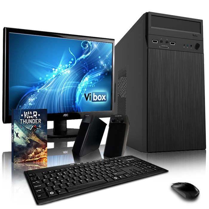 UNITÉ CENTRALE + ÉCRAN VIBOX Vision 1 PC Gamer Ordinateur avec Jeu Bundle