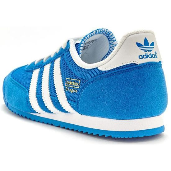 Adidas Originals GS dragon Suede formateurs en bleu royal et blanc D67715 [UK 6,5 UE 40]
