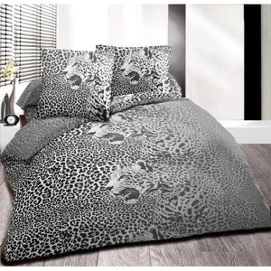 drap housse leopard achat vente drap housse leopard. Black Bedroom Furniture Sets. Home Design Ideas