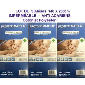 PROTÈGE MATELAS  3 ALESES  140 X 200 cm Protège matelas housse impe