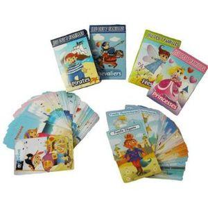 CARTES DE JEU Jeu des 7 Familles - lot de 4 jeux : Princesses,