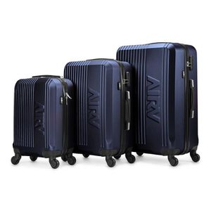 SET DE VALISES Set de 3 valises ABS trolleys Air V Lina - Bleu