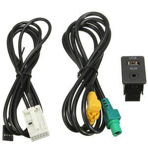 ADAPTATEUR AUDIO-VIDÉO  NEUFU Adaptateur Aux In Interrupteur USB Câble Pr