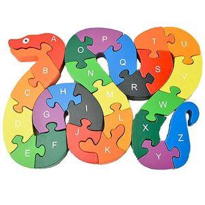 PUZZLE Enfant Jouet éducatif  26 Lettres Snake Puzzle Jou