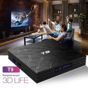 BOX MULTIMEDIA T9 TV Box Android 8.1,Boitier Android Tv Bi-bande