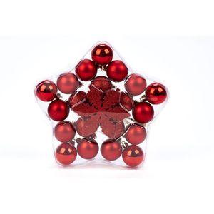 Lot de 9 x LUXE 60 mm Coffret or Rose Paillettes Boules Arbre Décoration Cadeau de Noël