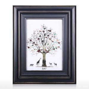 CADRE PHOTO Cadre photo en bois noir pour cadre photo décorati
