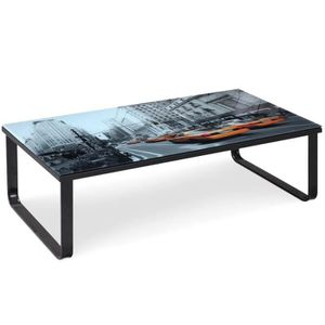 Table basse new york achat vente table basse new york for Table basse conforama en verre