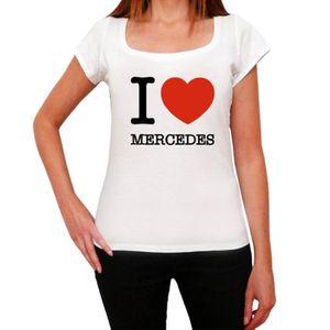 T-SHIRT MERCEDES, I Love City's Tshirt, Femme Tshirt