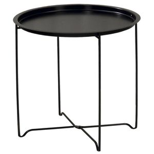 table de chevet en metal noir achat vente table de. Black Bedroom Furniture Sets. Home Design Ideas