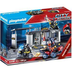 UNIVERS MINIATURE PLAYMOBIL 70338 - City Action - Quartier général t