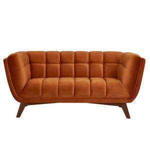 CANAPÉ - SOFA - DIVAN Canapé Mona 2 places en velours orange