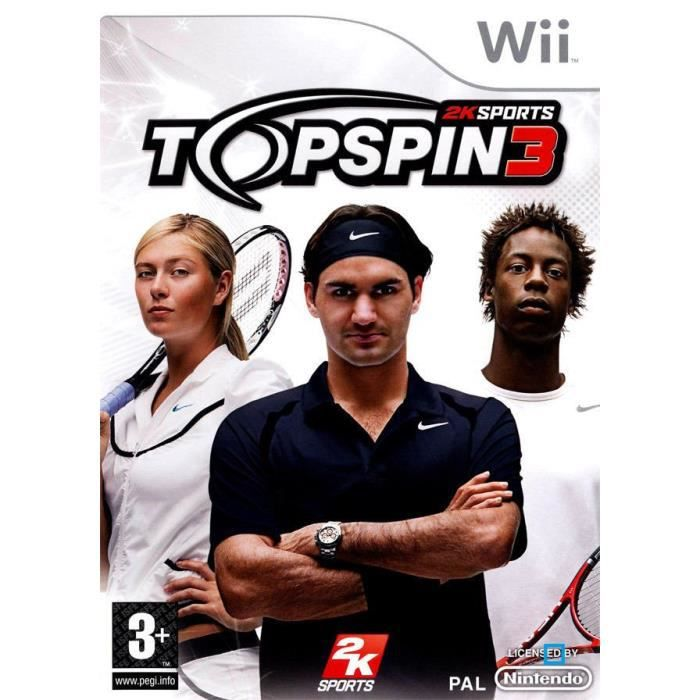 JEUX WII TOP SPIN 3 / JEU CONSOLE NINTENDO Wii
