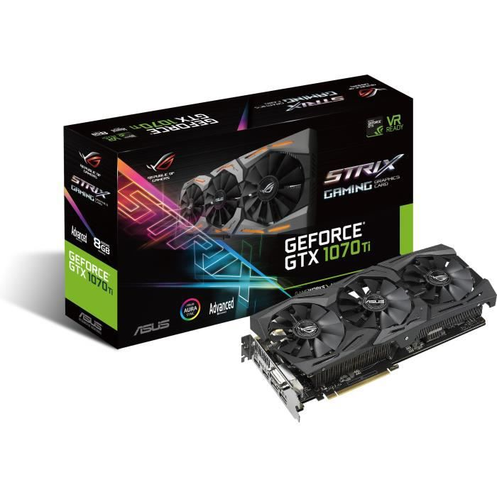 ASUS Carte Graphique STRIX-GTX1070TI A8G GAMING