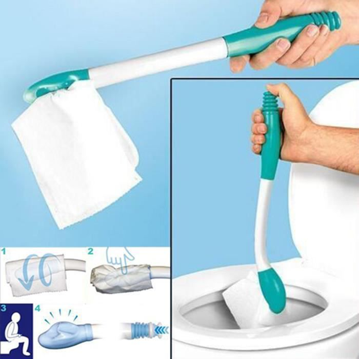 【Accessoires de salle de bain】Essuie-fesses en bas Aide à l'incontinence des toilettes Obèses Personnes âgées Handicap Mobilité