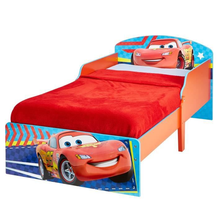 CARS Lit Enfant en bois Hello Home 70 x 140 cm - Worlds Apart