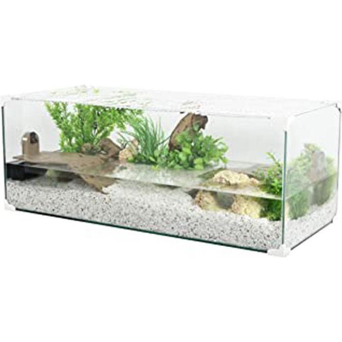 Aquarium Tortue-Aquaterrarium Pour Tortue D'Eau 80 Cm