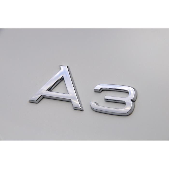 Logo coffre A3 Audi chromé voiture emblème sigle insigne