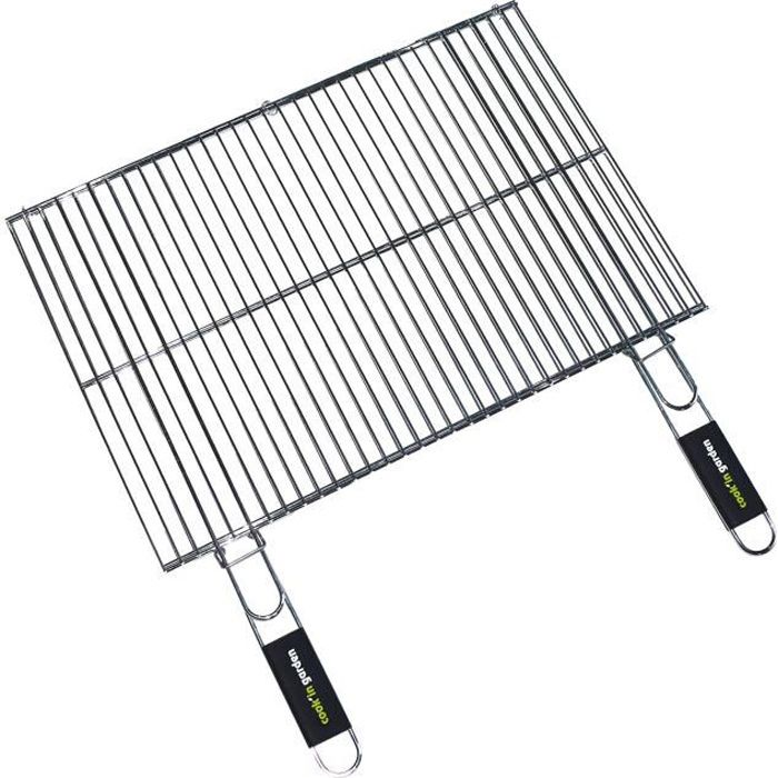 Sunday grille de barbecue chromée 67 x 40 cm: : Jardin
