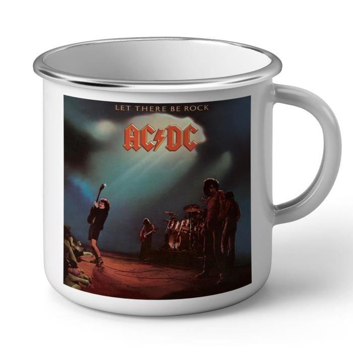 Mug en Métal Emaillé ACDC Vintage Album Cover Let There Be Rock Hard Rock