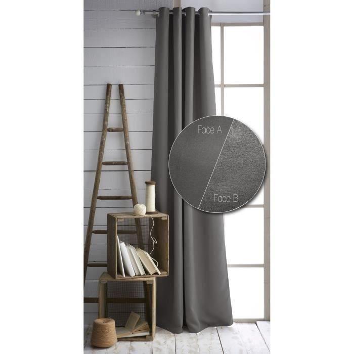 TODAY Paire de rideaux isolants thermiques - 140x240 cm - Canon de Fusil