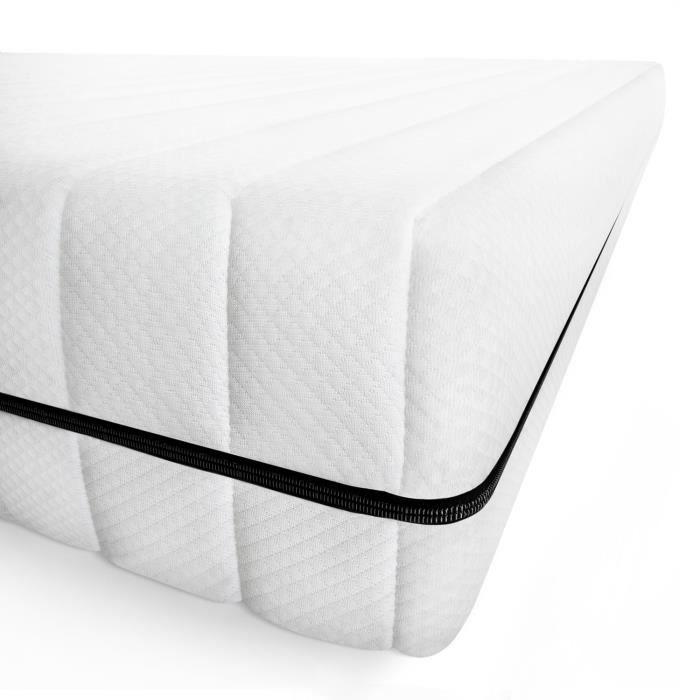 Matelas 90x200 matelas tout type de lits confort orthopédique housse amovible matelas anti-acarien, épaisseur 11 cm