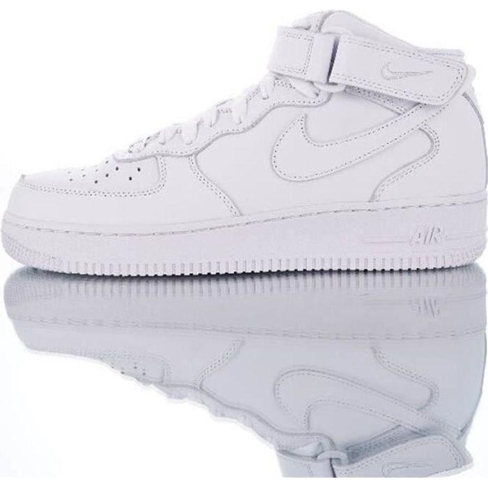 Baskets AIR Force 1 Mid Blanc 315123-111 Chaussures de Running Homme Femme