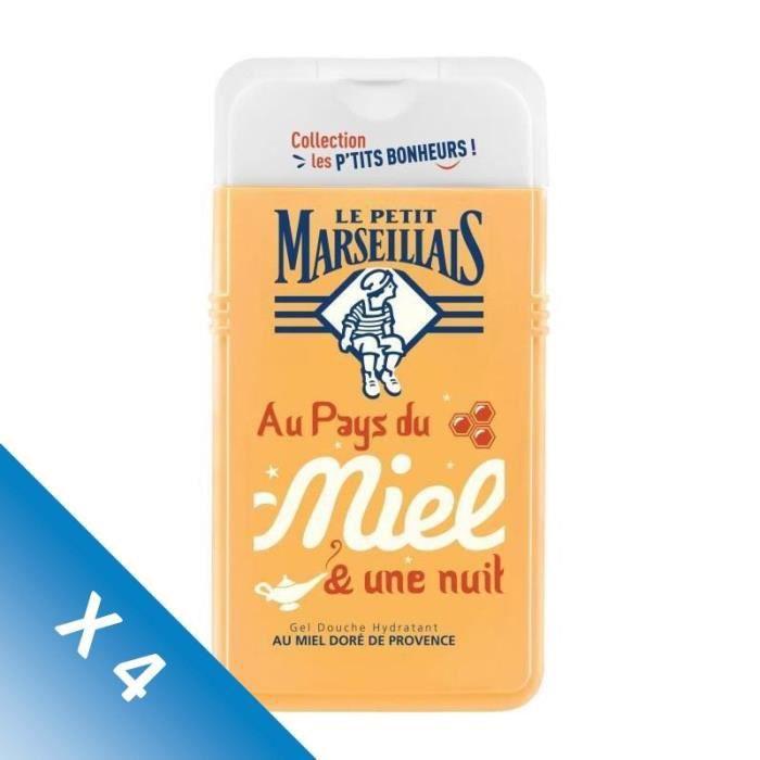 [LOT DE 4] LE PETIT MARSEILLAIS Gel douche les Petit bonheurs - 250 ml