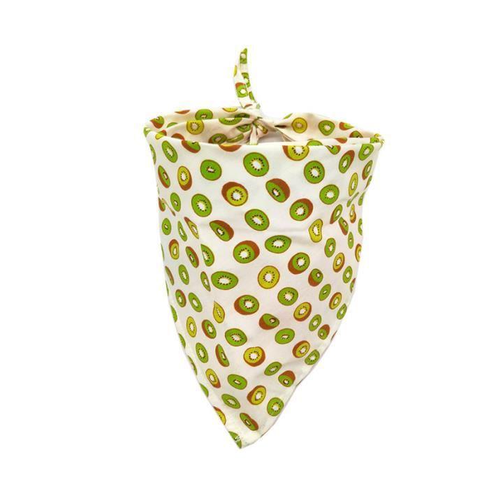 4 pièces bavoir pour animaux de compagnie confortable respirant mode fruits imprimé doux chien écharpe foulard COFFRET BIBERONS