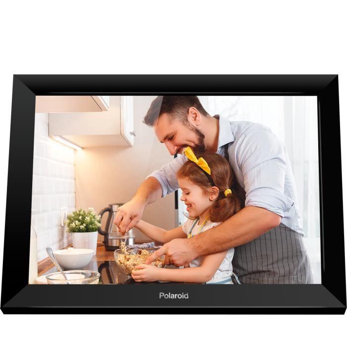 Cadre photo numérique connecté 10.1 pouces avec écran tactile - application PhotoLink pour smartphone - micro SD - POLAROID