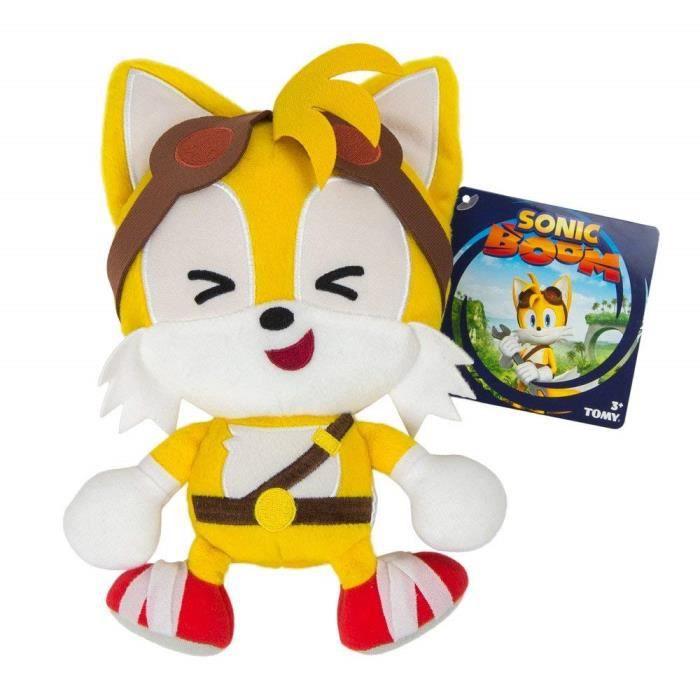 Poupon TOMY Sonic Boom Emoji en peluche Tails rire 8- XL156