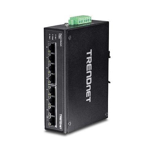 TRENDNET Commutateur Ethernet TI-G80 8 Ports - 2 Couches supportées - Paire torsadée - Montage sur rail
