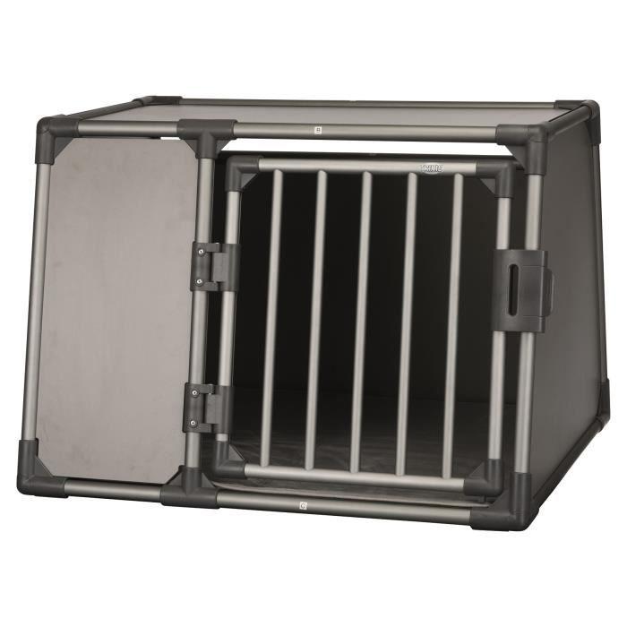 TRIXIE Box de transport - Aluminium - L : 92 x 64 x 78 cm - Gris graphite - Pour chien