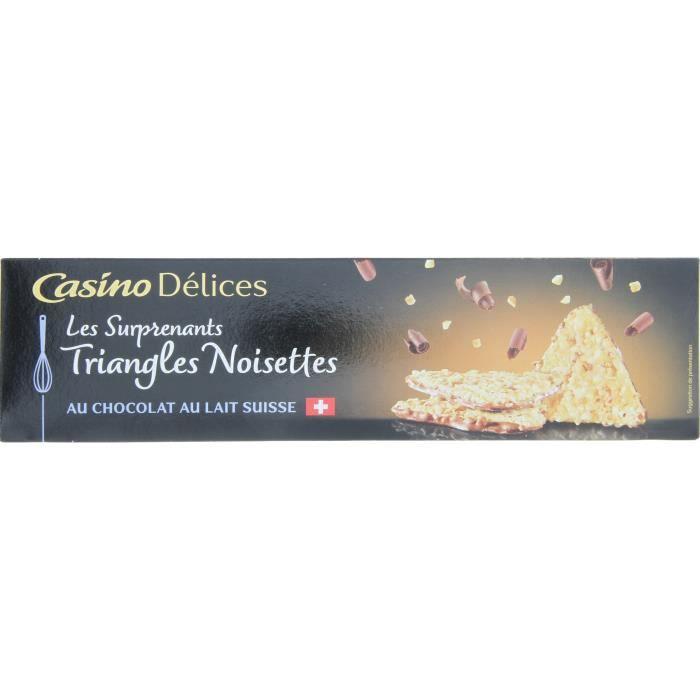 CASINO DELICES Triangles noisettes - 100g