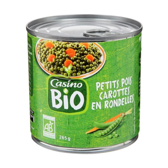 Petits pois et carottes rondes bio - 265 g