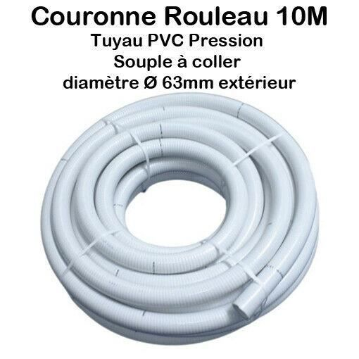 Couronne Rouleau 10m Tuyau Piscine Pvc Pression Souple Semi Rigide