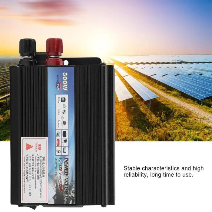 Onduleur solaire Onduleur 12 V Convertisseur 500W Onduleur avec panneau solaire pour m/énage #2 Onduleur