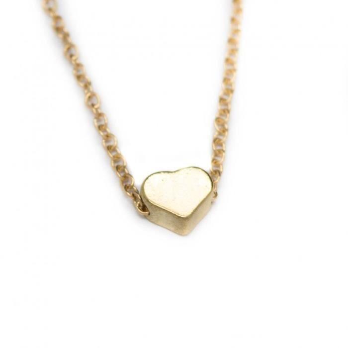 collier femme petit coeur