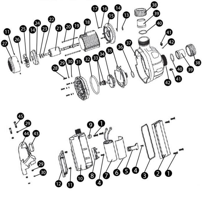 N 39 Raccord A Coller O 63 Pour Pompe Mgd Mono Nage A Contre