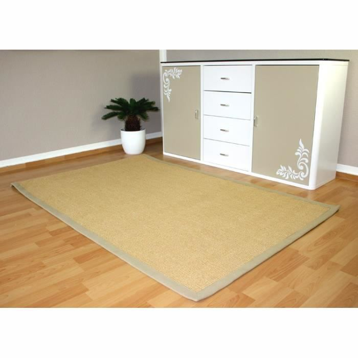 tapis 100 bio en fibres naturelles 70 x 140cm achat vente tapis cdiscount. Black Bedroom Furniture Sets. Home Design Ideas