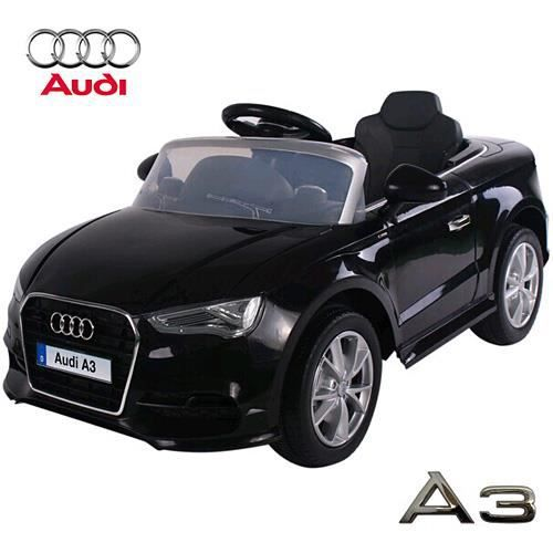 audi a3 voiture lectrique enfant noir 12 volts 2 moteurs achat vente voiture enfant. Black Bedroom Furniture Sets. Home Design Ideas