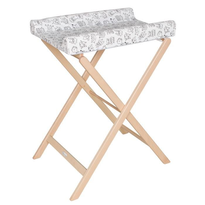 Photo de geuther-table-a-langer-pliable-trixi-naturelle
