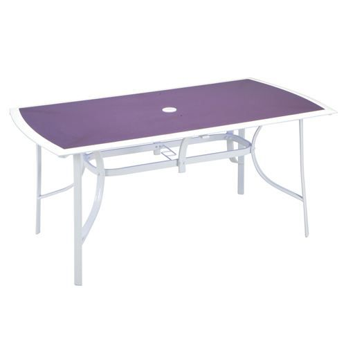 Table jardin rectangulaire les compatibles violet achat vente table de ja - Table de jardin c discount ...