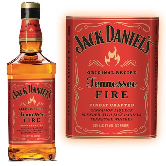WHISKY BOURBON SCOTCH Jack Daniel's FIRE 70cl (35%)