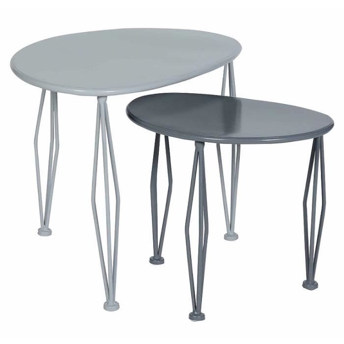 Lot de 2 tables basse en m tal achat vente table basse lot de 2 tables ba - Tables basses soldes ...
