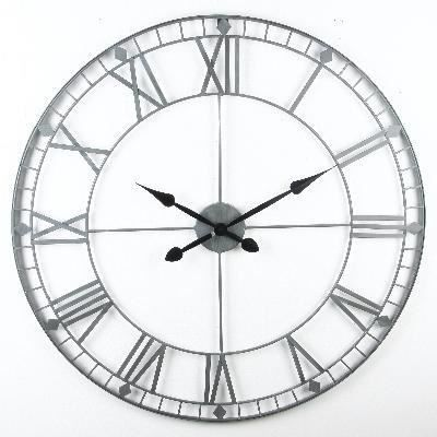 vintage horloge murale m tal d88cm achat vente horloge cdiscount. Black Bedroom Furniture Sets. Home Design Ideas
