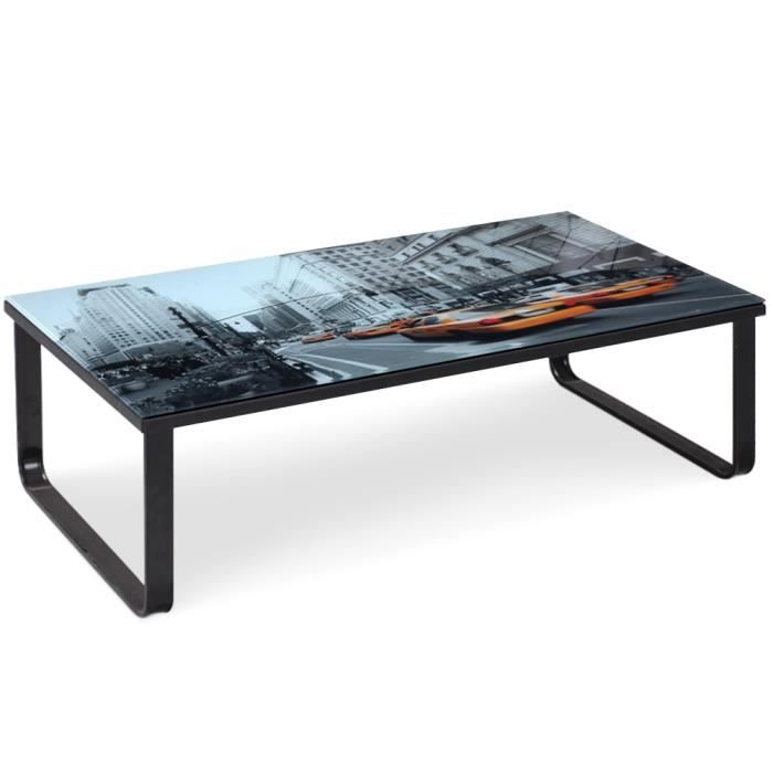 Table basse en verre citycab salon salle manger - Tables basses en verre ...
