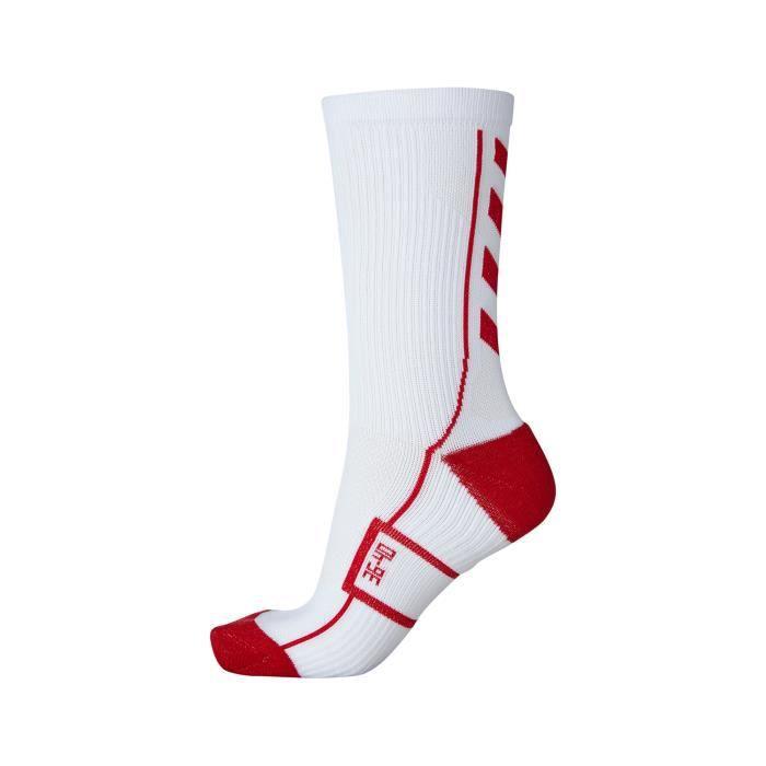 Blanc//Rouge hummel Chaussettes Authentic Indoor