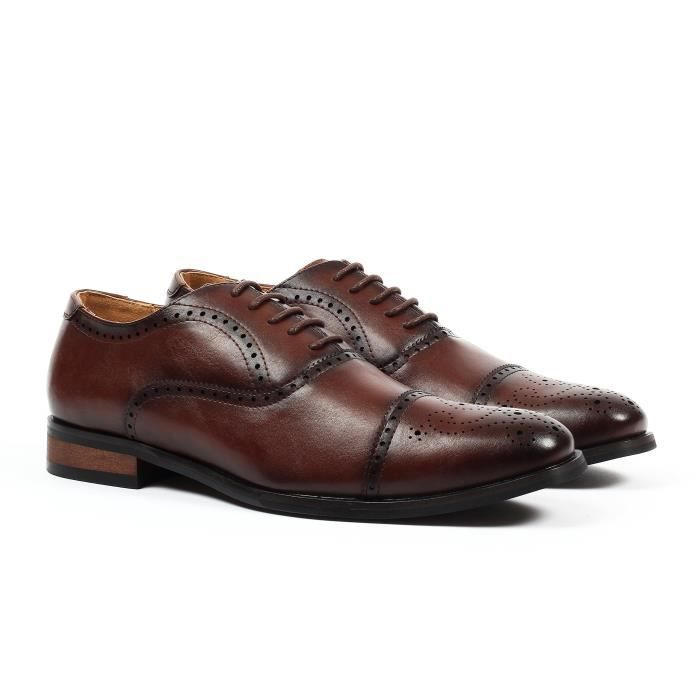 Gino Cap-toe Chaussures habillées Brogue ULJ29 Taille-40 1-2