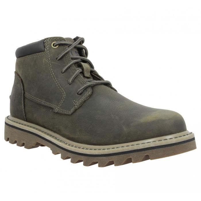 80b7436899c0ba Bottines CATERPILLAR Doubleday cuir Homme-41-Bungee Marron, vert ...